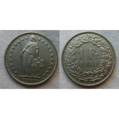 Schweiz - 1 Franc 1980