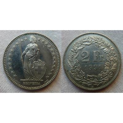 Switzerland - 2 Franc 1991