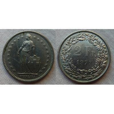 Switzerland - 2 Franc 1977
