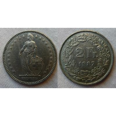 Switzerland - 2 Franc 1987