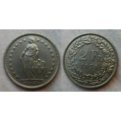 Schweiz -2 Franc 1974