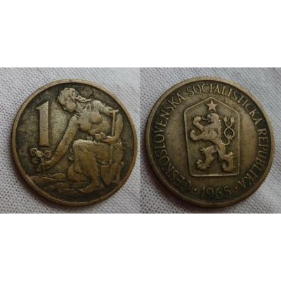 1 koruna 1965