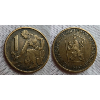 1 koruna 1967