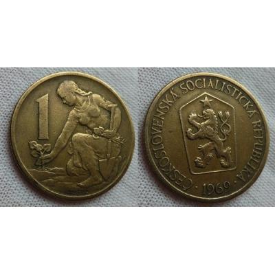 1 koruna 1969