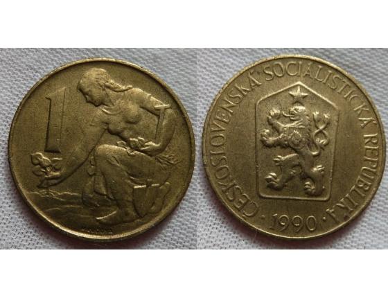 1 koruna 1990