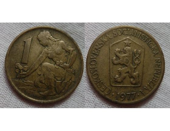 1 koruna 1977