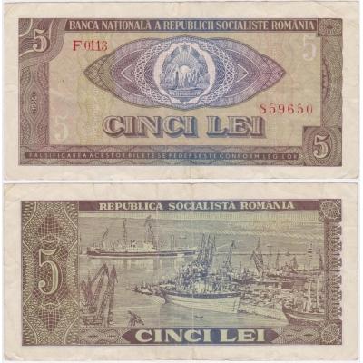 Rumunsko - 5 lei 1966