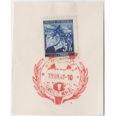 Pamětní razítko - Hradec Králové 1941, lípy