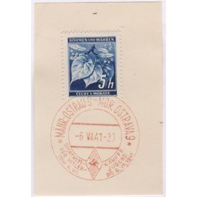 Pamětní razítko - Ostrava 1941, lípy