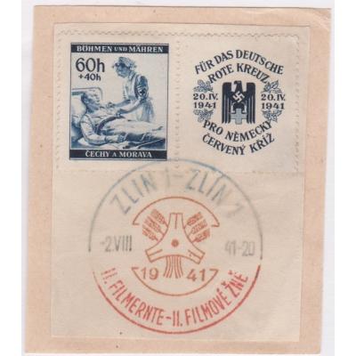 Pamětní razítko - Zlín 1941, Německý červený kříž