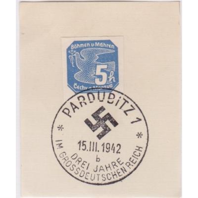 Pamětní razítko - Pardubice 1942