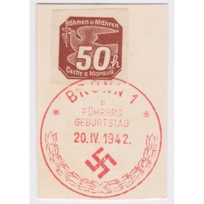 Pamětní razítko - Brno 1942