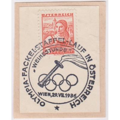 Pamětní razítko - Olympiáda 1936