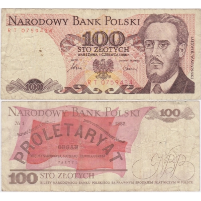 Polen - 100 zlotych 1986 Banknote