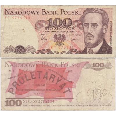 Polsko - bankovka 100 zlotych 1986