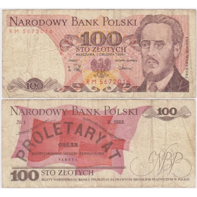 Poland - 100 zlotych 1988 banknote