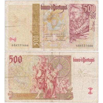 Portugalsko - bankovka 500 escudos 1997