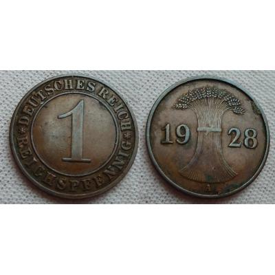 1 reichspfennig 1928 A