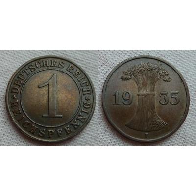 1 reichspfennig 1935 F