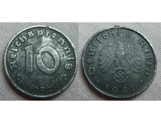 10 Reichspfennig 1941 D