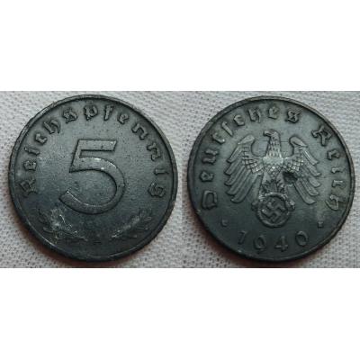 5 Reichspfennig 1940 A