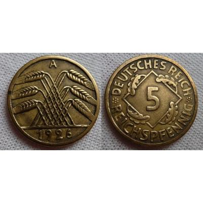 5 Reichspfennig 1926 A