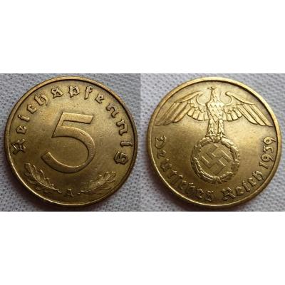 5 Reichspfennig 1939 A