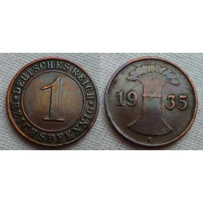 1 Reichspfennig 1935 E