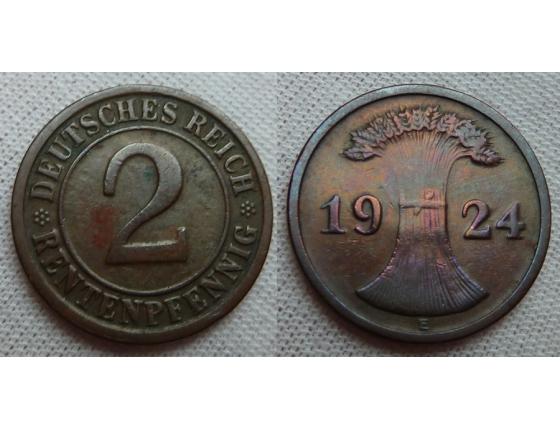 2 Reichspfennig 1924 E