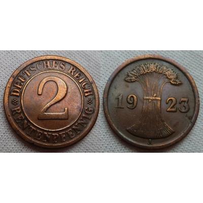2 Reichspfennig 1923 A