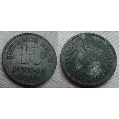 10 pfennig 1922