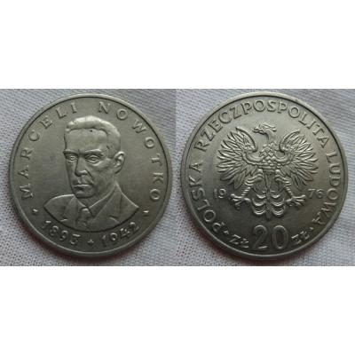 20 zlotych 1976 - Marceli Nowotko