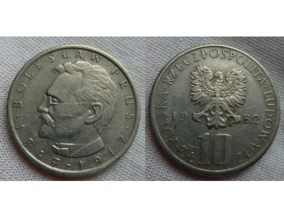 10 zlotych 1982 - Boleslaw Prus