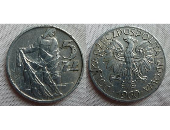 5 zlotych 1960
