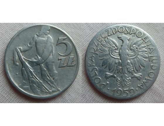 5 zlotych 1959