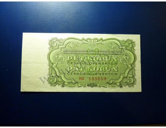 5 korun 1961 UNC