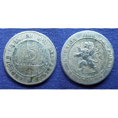 5 Centimes 1864