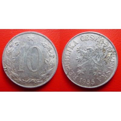 10 haléřů 1955