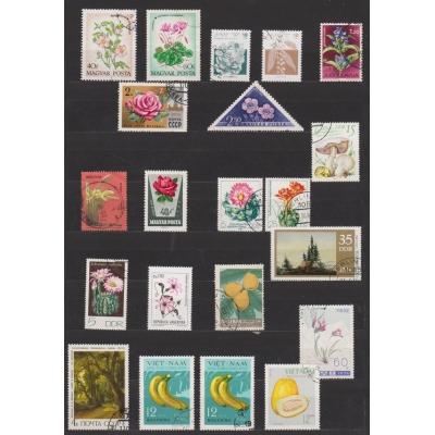 Partie známek - Rostliny