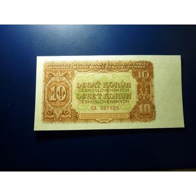 Československo - bankovka 10 Korun 1953 (UNC)