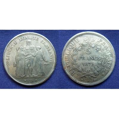 5 frank 1875 kopie
