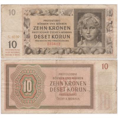 10 korun 1942, série N