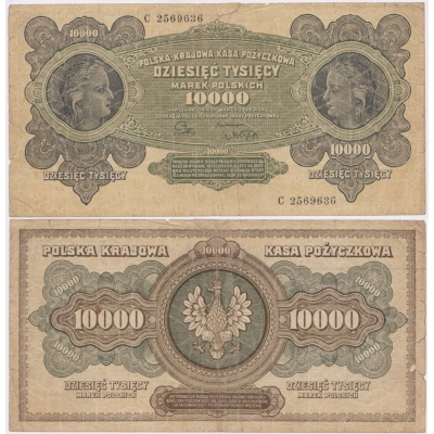 Polsko - 10 000 marek 1922