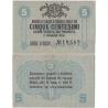 Itálie - bankovka 5 Centesimi 1918