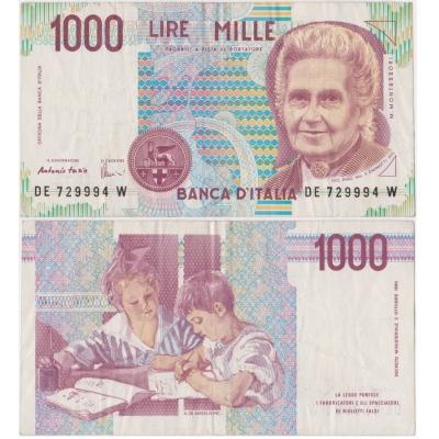 Itálie - bankovka 1000 lire 1990