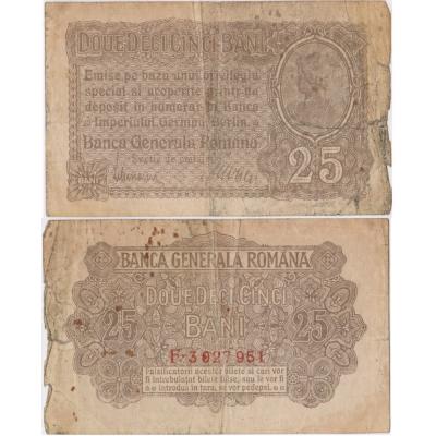 Rumunsko - bankovka 25 banii 1917 - německá okupace