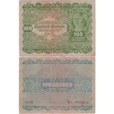 Österreich - 100 Kronen-Banknote 1922