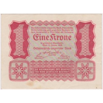 Austria - banknote 1 crown 1922