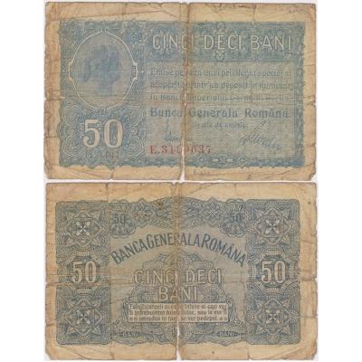 Rumunsko - bankovka 50 bani 1917, německá okupace