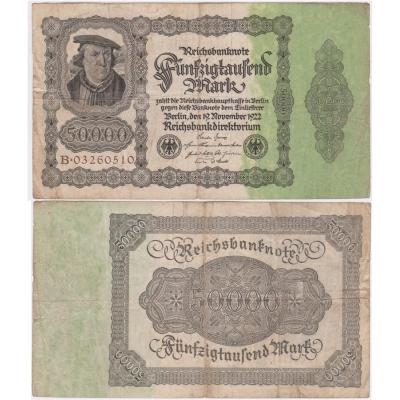 Reichsbanknote 50 000 marek 1922